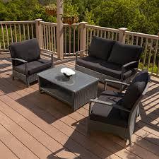 patio lounge sets. Belladonna Resin Wicker 4-Piece Patio Lounge Set Sets P