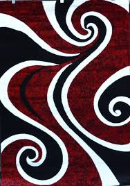 Perfect Modern Carpet Designs Cool Abstract Red Black Swirl Rug Throughout Decor