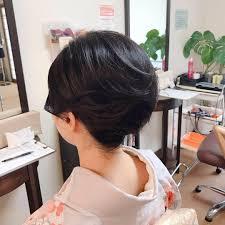 Moriyama Mamiさんのヘアスタイル ボブヘアの方もアップスタイル