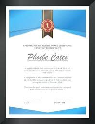 Outstanding Volunteer Certificate Template 7 Of The Month Award
