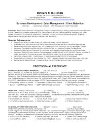 Business Development Job Description Resume
