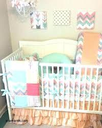c and mint baby bedding peach crib bedding peach baby bedding c and mint baby bedding