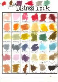 Distress Ink Color Chart 2017 Tim Holtz Distress Ink Color Chart 2015
