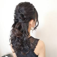 Yukiushida Yukingyo0630 結婚式ハーフアップヘアセット