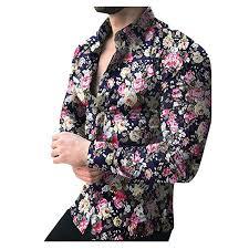 <b>Shirt</b> for <b>Men</b>, F_Gotal Autumn <b>Men's</b> T-<b>Shirts</b> Fashion <b>Floral</b> Printed ...