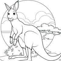 Small Picture 11 best COLORING KANGAROO images on Pinterest Kangaroos