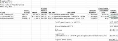 Reconciliation Template Prepaid Account Reconciliation Template Excel Accounting124