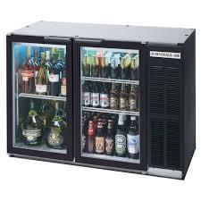 beverage air bb48gy 1 bk led wine 48 inch black back bar