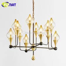 fumat new modern metal glass flower buds chandeliers designer glass lampshade er led pendant chandeliers lamp 3 light pendant rustic pendant lighting