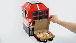 Lego Vending Machine Cool LEGO Pizza Hut Vending Machine Actually Dispenses Pizza