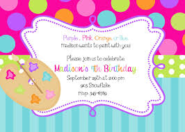 painting birthday party invitations and get inspiration to create the party invitation design of your dreams 1