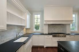 kitchen design white cabinets black countertops. Beautiful White Shutterstock_37067752 This Classic Kitchen Features A Striking Combination  Of Black Counter Tops And White Cabinets To Kitchen Design White Cabinets Black Countertops