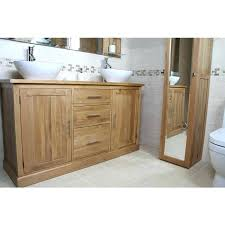 double sink vanity unit freestanding oak bathroom cabinet home improvement re s