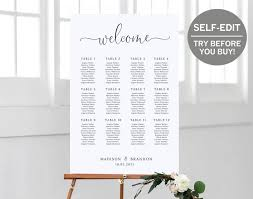 Wedding Seating Arrangements Template Wedding Seating Chart Template Try Before You Buy