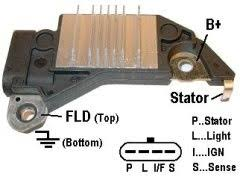 delco type alternator voltage regulators d748 voltage regulator for delco type cs130d series alternators 14 6 volt set point b circuit 2 5 second lrc p l f s terminals