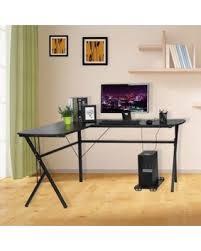 huge desk. OUTAD Corner Computer Desk, Large L-Shaped Desk For Home Office Workstation Notebook Huge