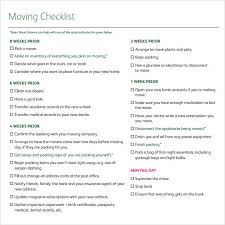Moving Checklist Template Impressive 48 Moving Checklist Templates Sample Templates