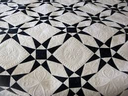 37 best Two-Color Quilts images on Pinterest | Quilt patterns ... & two color quilt and alternating quilting blocks by Green Fairy Quilts Adamdwight.com