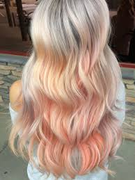 Pastel Hair Silver Roots Into Peach
