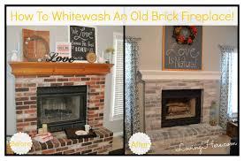 whitewash brick before and after whitewashing brick fireplace brick wall fireplace