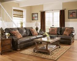 Living Room Classic Decorating Truffle Color Rustic Living Room W Nailhead Deatils Love