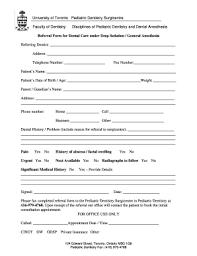 dental referral form template editable generic dental referral form templates to complete online