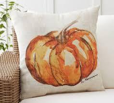 Attractive Painted Pumpkin Patch Indoor/Outdoor Pillow
