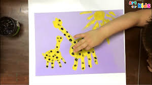 Hand painting for kids | How to draw a <b>giraffe</b> for kids | Painting ...