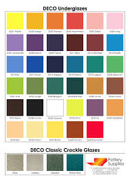 Deco Glaze Colour Chart Pottery Supplies Are The Manufacturers Of The Deco Range Of
