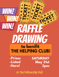 Raffle Ticket Benefit Drawing Event Flyer Template