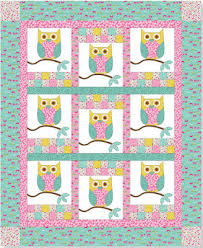 Quilt Inspiration: Free Pattern Day: Owls ! & Hoos Hanging Out quilt, 56 x 68