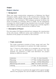 project charter construction project charter for house construction under fontanacountryinn com