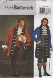 Pirate Costume Pattern Impressive Butterick 48 Mens Pirate Costume Pattern XS S M Chest 48 48