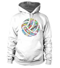Volleyball Word Volleyball Word 2 Hoodie Teezily