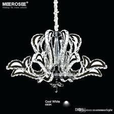 flower drum shade ceiling light modern crystal chandeliers lighting pendants led bulbs included stainless steel lamp