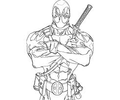 Small Picture Deadpool Coloring Pages For Kids Coloring Pages Kids