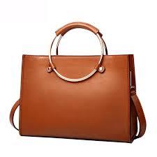 women real leather circle handle tote purse top handle handbag cross messenger bag vertical or horizontal for choice mens messenger bags mens bags from