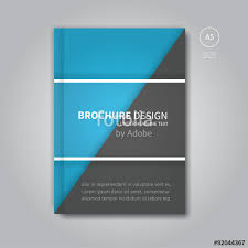 book cover template vector in blue color modern brochure background and book layout design