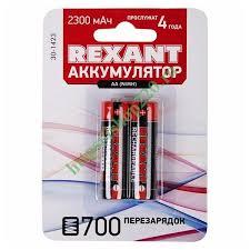 Купить <b>Аккумулятор AA</b> Rexant 1,2В 2300мАч (в упаковке 2шт) 30 ...