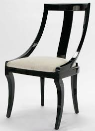 italian lacquer dining room furniture. Room · Six Italian Black Lacquer \u0026 Moire Dining Chairs Furniture