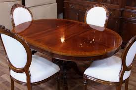 oval gany dining table