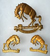 Canadian Light Horse Canada 14th Canadian Light Horse Cap And Pair Of Collar Badges
