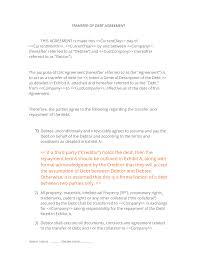 Sample Agreement To Pay Debt Debt Transfer Agreement 3 Easy Steps