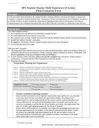 Sample Teacher Evaluation Form Final Evaluation Shelley By Shelley Wiebe Issuu 16