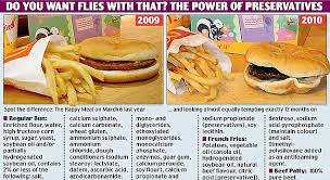 mcdonald s food after 2 years. Ongoing Experiment In 2010 Blogger Joann Bruso Was Shocked That Her Happy Meal And Mcdonald Food After Years