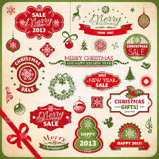 Set Of Buy Sale Christmas And New Year Advertising Banners And Labels Stock Vector Image