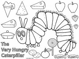 Hungry Caterpillar Coloring Pages Print Coloring