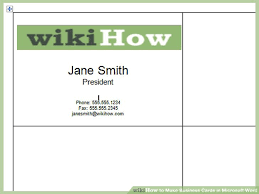microsoft business card how to make business cards in microsoft word with pictures