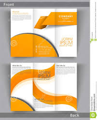 Two Page Brochure Template Professional Business Trifold Brochure Or Template Design Stock
