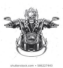 <b>Skeleton Riding Motorcycle</b> Images, Stock Photos & Vectors ...